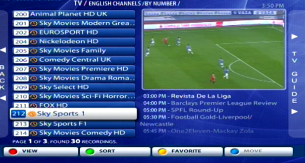 MAG 250 Sports Package Subscription Channels IPTV